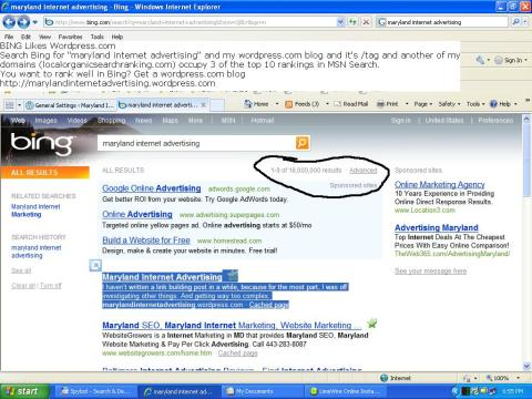 You want your site to rank in Bing, get wordpress.com